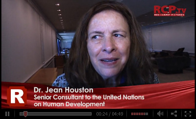 Click to watch video of Jean Houston at the UN