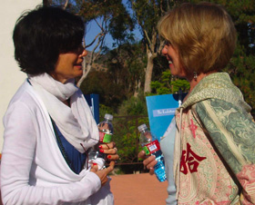 Debbie Ford and Joan Borysenko at Evolutionary Leaders Retreat
